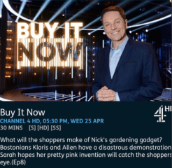 Sarah Alam on Channel 4's Buy It Now